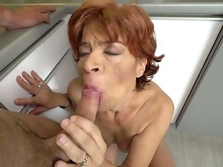 Old Whore Donatella Hooks Up With One Youthfull Student