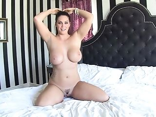 Brown-haired Alison Tyler With Massive Jugs Has A Fine Time Playing With Mans Jism Loaded Dick