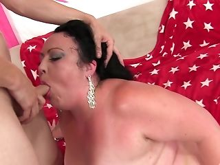 Chubby Mummy Alexxxis Allure Gets Her Beaver Pounded In Many Poses