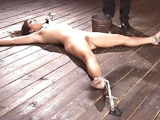 Painful Restrain Bondage And Violation For Curly Haired Victoria Voxxx