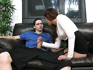 Dark Haired Senorita Alex Davis Does Dirty Things And Then Gets Covered In Man Goo