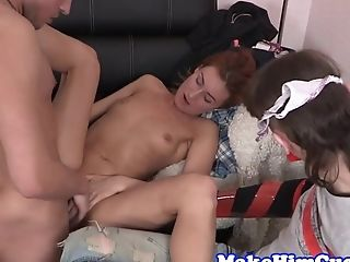 Cuckolding Honey Banged In Front Of Her Paramour
