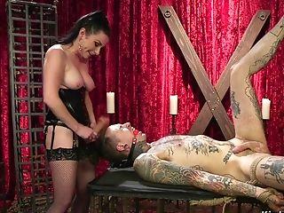 Man Dangled For Ankles Tonguing Mistress