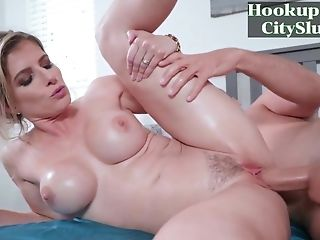 Blonde Mummy With Big Tits Cory Chase's Morning After - Hd Movie With Jizz Shot