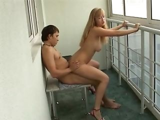 Amazing First-timer Bouncing On Her Accomplice's Pulsating Manhood
