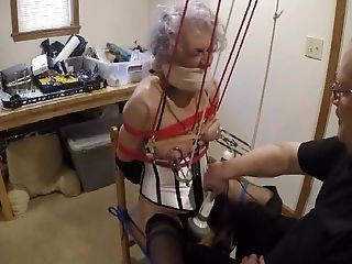 Ronni's Box-tie & Breast Torment By Pabondage Part 1