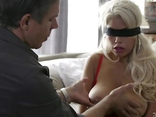 Blonde Sex Industry Star Wifey Bridgette B Gives Head While Blinded