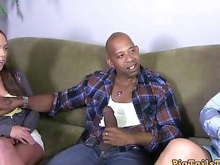 Dirty Talking Stepmom Observes Daughter-in-law Take Diesel's Big Black Cock