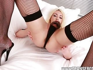 Sasha De Sade Uses A Prick Sleeve To Wank Off