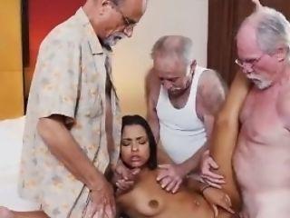 Mexican Teenager Breezy Fucks Three Old Geezers