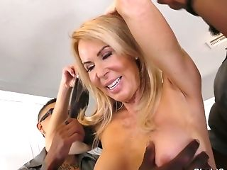 Milky Housewife Erica Lauren Is Banged By A Few Black Employees
