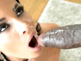Spunk In Mouth Ending For Latina Adult Movie Star Anissa Kate After Romp