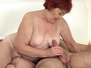 Brief Haired Sandy-haired Matures Buxom Granny Marsha Gets Fucked Hard