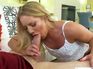 Hypnotizing Nice Blondie Candice Dare Works On Strong Man Meat Of Preston Parker