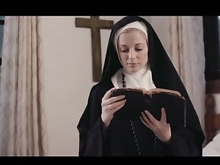 Sinful Girl-on-girl Nun Mona Wales Is Munching And Finger Fucking Appetizing Poon