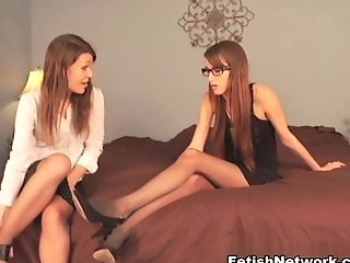 Crazy Pornographic Star In Exotic Stockings, Foot Worship Adult Scene
