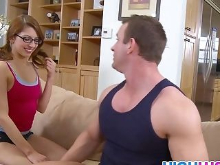 Nerdy Student Lexi Bloom Learns Quick