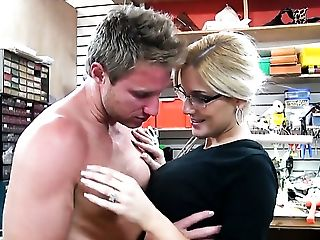 Blonde Senorita Ana Marie With Meaty Jugs And Bald Thicket Takes It In Her Mouth After Levi Cashs Dick Becomes Stiff And Hard