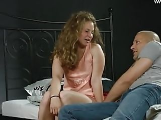 Curly Haired Blonde Going Hard On The Prick