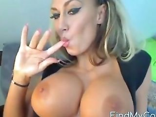 Sexy Honey Talks Dirty In Her Bedroom