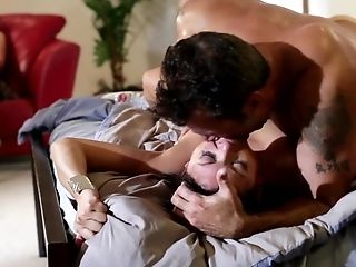 Dark-haired Adriana Luna With Gigantic Knockers Takes Fellow's Love Torpedo In Her Love Tunnel